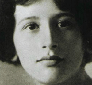 Simone Weil, 1909–1943, French Mystic and Social Philosopher
